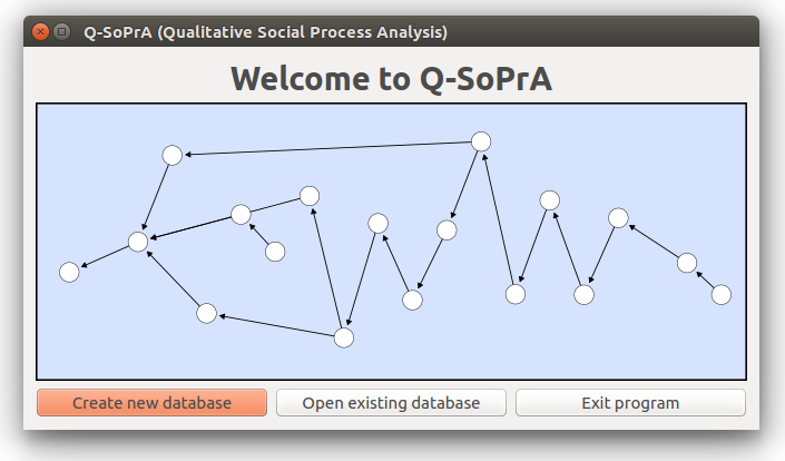 The Welcome Screen of Q-SoPrA