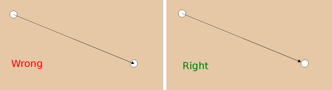 Drawing parallel edges in Qt